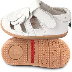 【愛寶貝】英國 shooshoos 健康無毒真皮手工涼鞋/童鞋_天使花朵_102021 (公司貨)