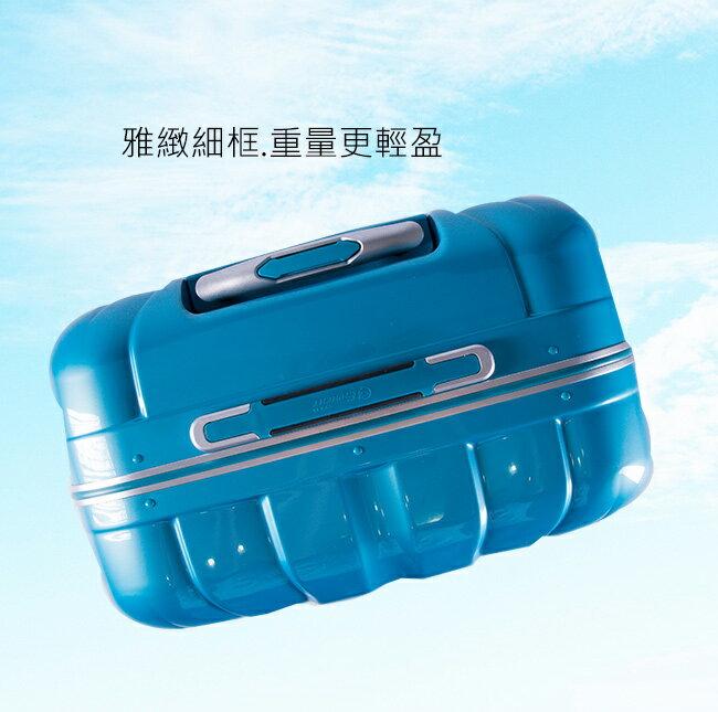 【eminent萬國通路】20吋雷斯特 極致鋁合金淺鋁框PC行李箱 luggage 登機箱(9L6暗巖藍)【威奇包仔通】 4