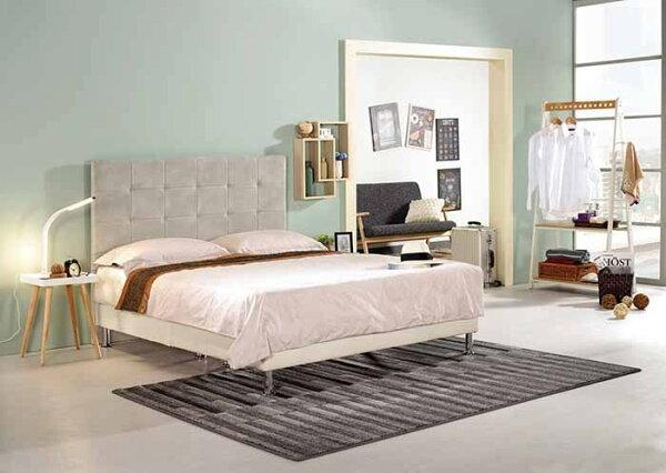 【尚品傢俱】CM-162-2美諾5尺雙人床(米白,另有六尺)