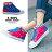 格子舖*【KB808】MIT台灣製 青春校園可愛星星撞色條紋 高筒綁帶帆布鞋 2色 0