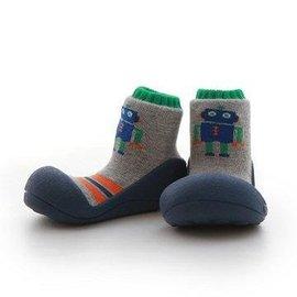 【淘氣寶寶】韓國【Attipas】快樂腳襪型學步鞋-機器人系列(藍底) XL