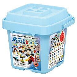 《 Artec 日本彩色積木 》收納積木桶112塊