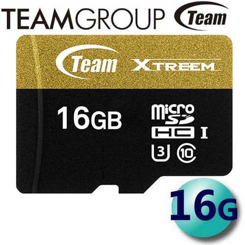 Team 十銓 16GB 90MB/s microSDHC TF U3 C10 記憶卡