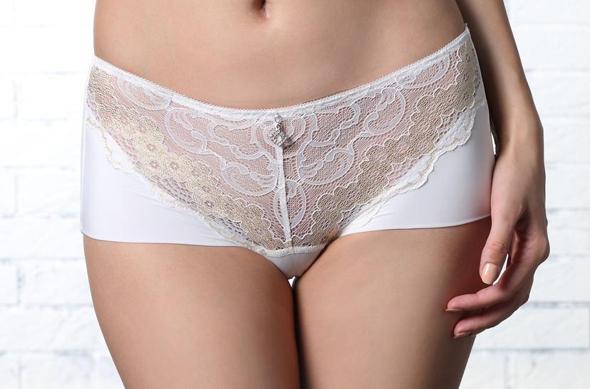 LADY 伯瑟芬妮系列 中腰平口褲(美型白)