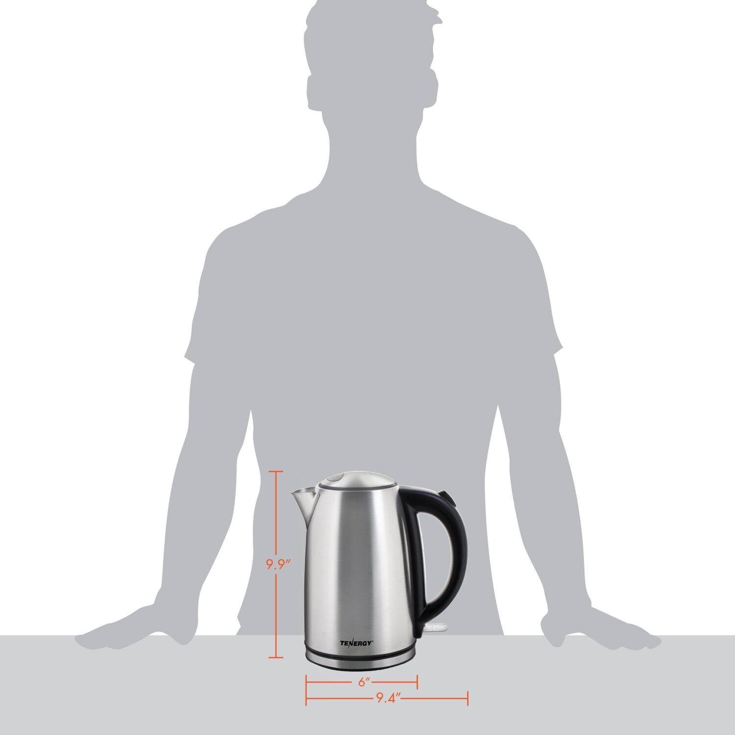 Tenergy: Tenergy Stainless Steel Electric Kettle 1.7L 1500W Fast ...