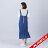 【maru.a】綁帶裝飾魚尾裙襬長洋裝(深藍) 3