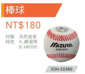 【登瑞體育】MIZUNO 練習用硬式棒球 2OH30380