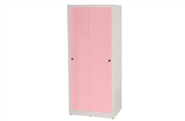 【石川家居】832-04(粉紅白色)拉門衣櫥(CT-114)#訂製預購款式#環保塑鋼P無毒防霉易清潔