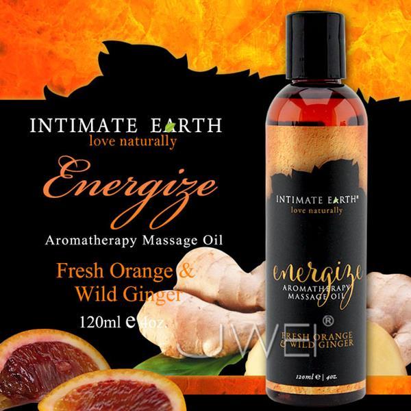 情趣用品美國Intimate-Earth.Energize芳香按摩油-鮮橙野薑(120ml)