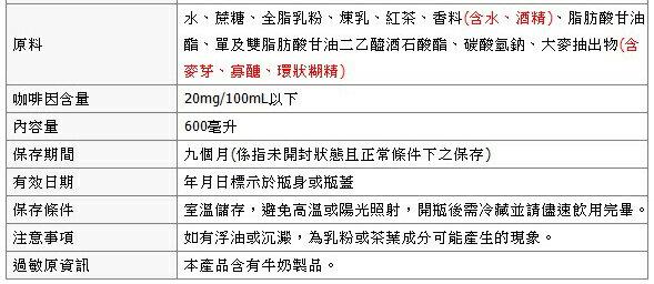 統一 麥香 阿薩姆奶茶 600ml (24入) / 箱 2