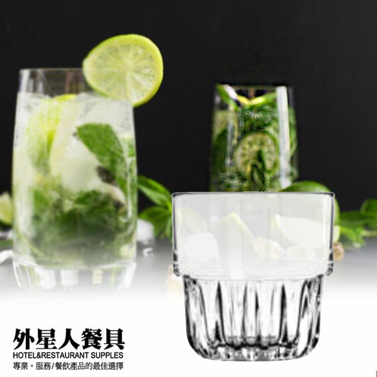 玻璃杯-可疊劍型冷飲玻璃杯355cc/6入 酒杯 果汁杯 水杯-外星人餐具