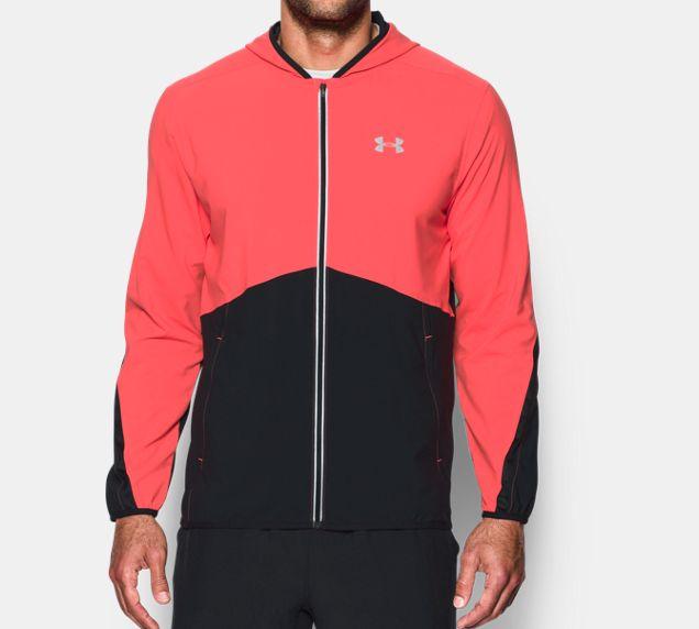 《UA出清5折》Shoestw【1289388-963】UNDER ARMOUR UA服飾 慢跑外套 運動外套 紅黑 男生