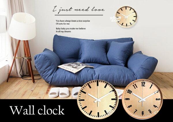 【完全計時】手錶館│原木刻度款壁飾鐘創意時尚牆飾掛飾鐘 品質下殺新品 數字刻度 無印良品 風格