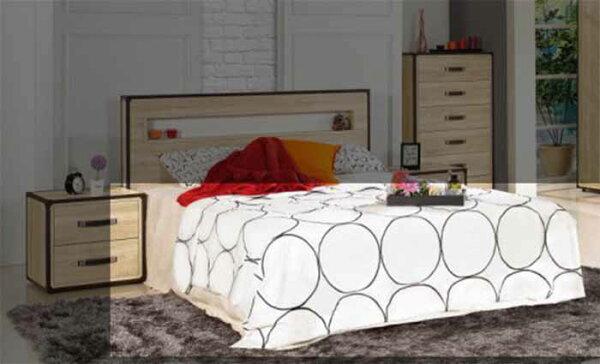 【尚品傢俱】JF-052-6溫蒂5尺雙人橡木紋雙人三抽床底