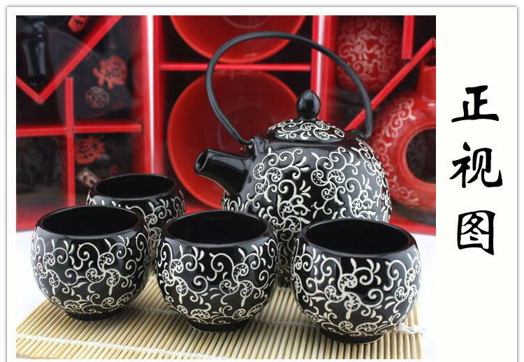 《愛鴨咖啡》zakka雜貨 日式和風茶具 百家姓圖 功夫茶具 大容量茶壺 日式茶道 日本風 鉤藤圖