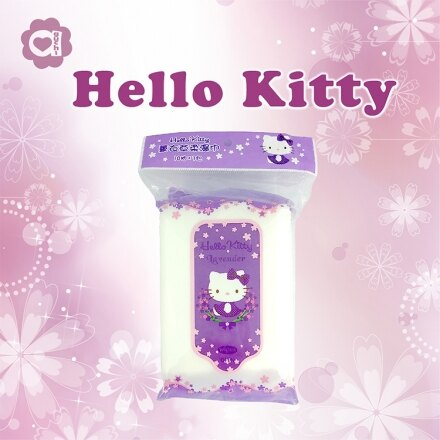 ☆Hello Kitty☆凱蒂貓 薰衣草柔濕巾(10抽X3包)每包12元【亞古奇 Aguchi】 1