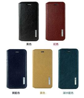 MEEKEE SHOP:[iPhone66s]PierreCardin法國皮爾卡登4.7吋簡約真皮書本側翻式手機套保護套皮套