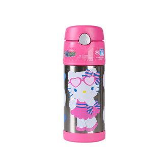 美國 THERMOS 膳魔師 Hello Kitty 不鏽鋼真空保溫瓶 兒童吸管水壺 無提把款 *夏日微風*