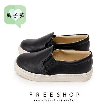 Free Shop 童鞋款馬卡龍簡約休閒鞋懶人鞋小白鞋 真皮鞋墊舒適柔軟止滑透氣(3FR09)【QSH0654】