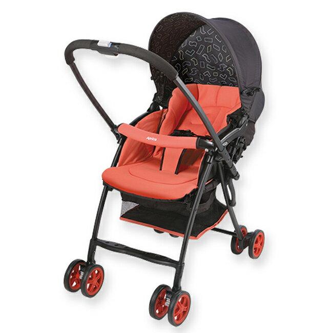 *babygo*Aprica Karoon超輕量雙向平躺型嬰幼兒手推車(櫻花紅 RD#2008481)