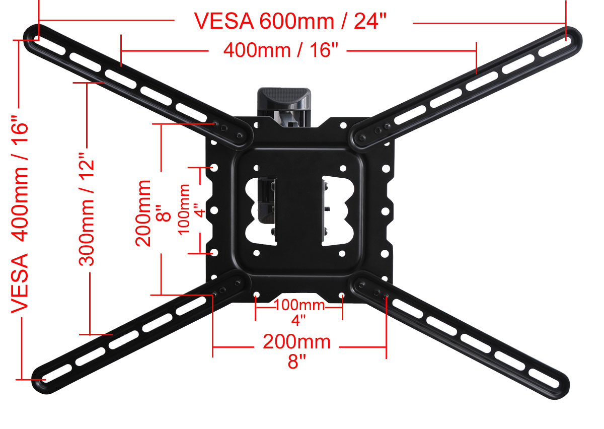"VideoSecu Articulating Tilt Swivel LED TV Wall Mount Full Motion for 26-55"" Plasma Refurbished bni 4"