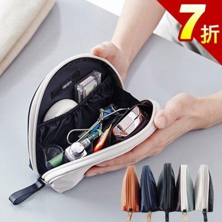 化妝包~韓國輕巧半圓形多層次大容量魔術收納化妝包 收納包 旅行包~AN SHOP~