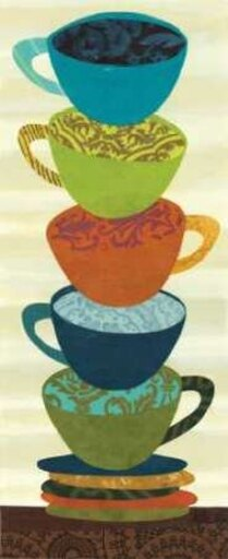 Stacking Cups II Poster Print by Jeni Lee (24 x 48) 8d9787ea092efdaf2928655d33df2e04