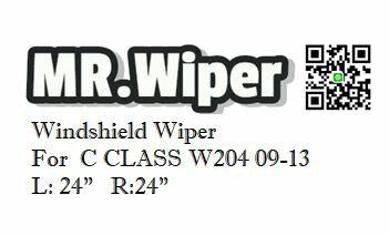 MR.Wiper Mercedes Benz C-CLASS W204 2009-2013 專用軟骨雨刷