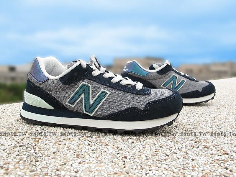 《下殺7折》Shoestw【WL515RTA】NEW BALANCE NB515 復古慢跑鞋 麻灰 深藍 女生尺寸