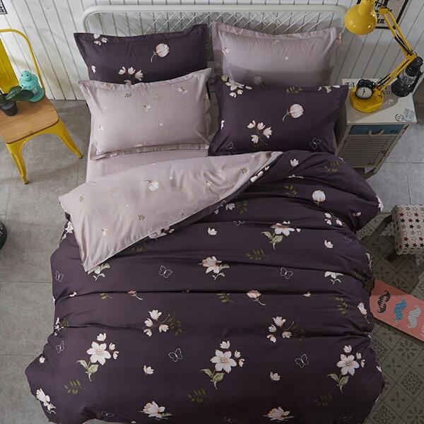 哇哇購:哇哇購個性印花四件式被套床包組雙人七月