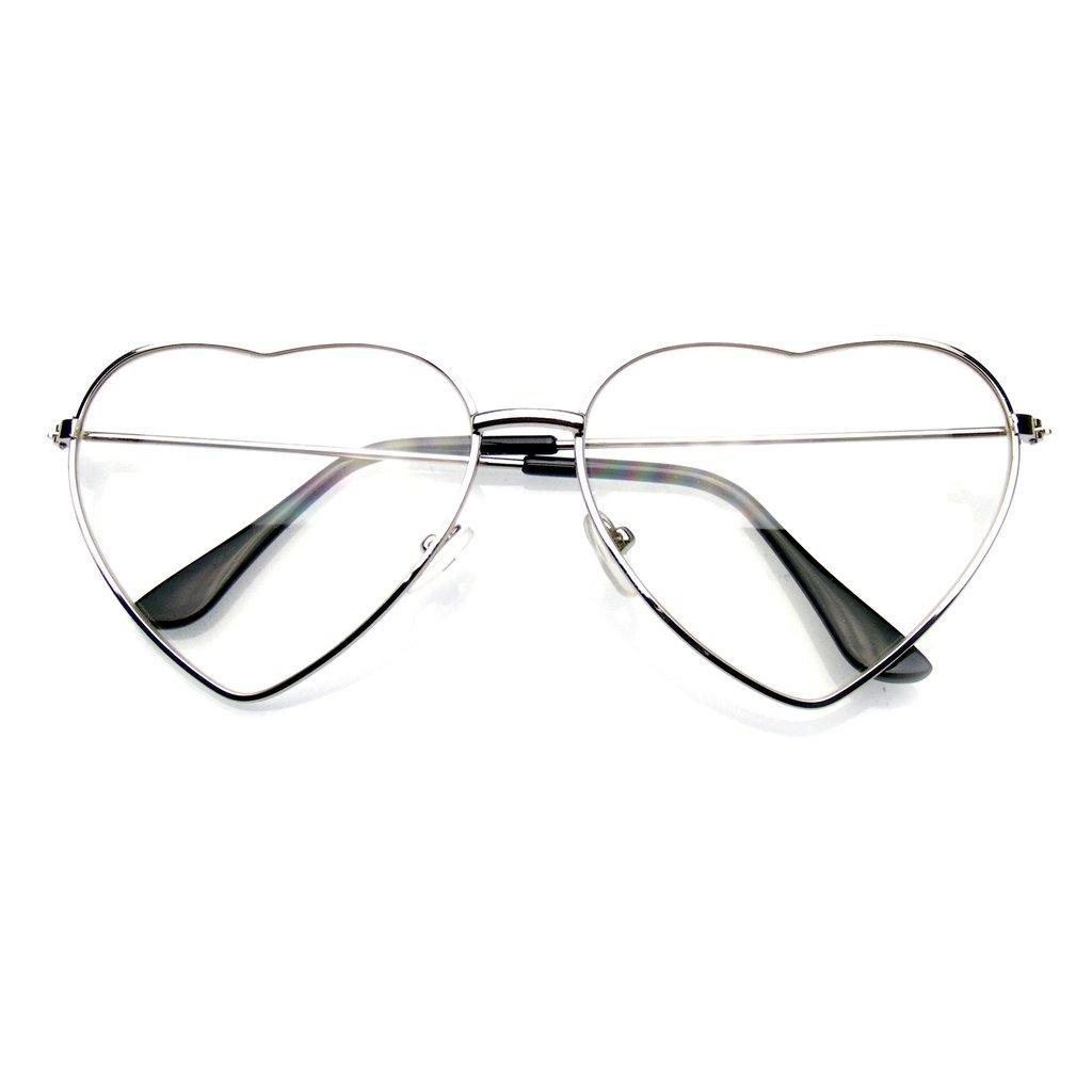 Emblem Eyewear: Emblem Eyewear - Metal Frame Heart Shape Sunglasses ...