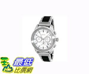 [COSCO代購 如果沒搶到鄭重道歉] DKNY 不鏽鋼橡膠錶帶石英計時男錶 W731978