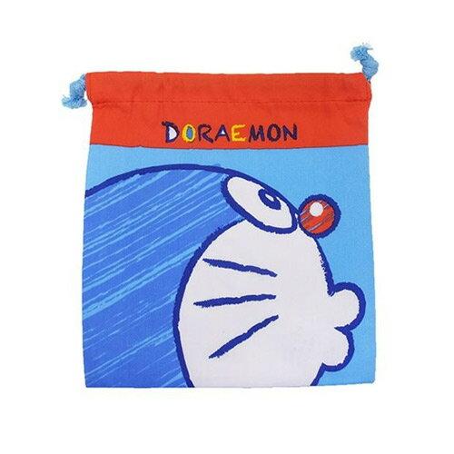 側臉款【日本進口正版】 哆啦a夢 多功能束口袋 收納袋 抽繩束口袋 小叮噹 DORAEMON - 416799