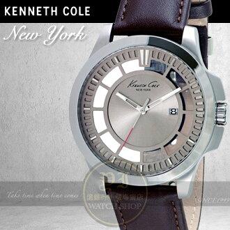 Kenneth Cole國際品牌簡約鏤空紳士腕錶KC10027444公司貨/設計師/禮物/情人節