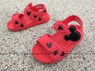 Shoestw【BA9304】ADIDAS 童鞋 涼鞋 小童 AKWAH 9 K 迪士尼 米奇 桃紅黑├【1101-1130】單筆訂單滿700折100★結帳輸入序號『loveyou-beauty』┤