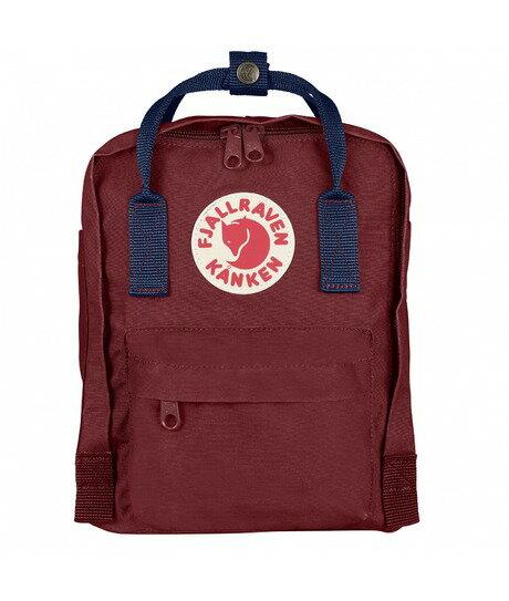 ├登山樂┤瑞典Fjallraven Kanken Mini 復古後背包 方型書包-公牛紅/皇家藍 # F23561-540326