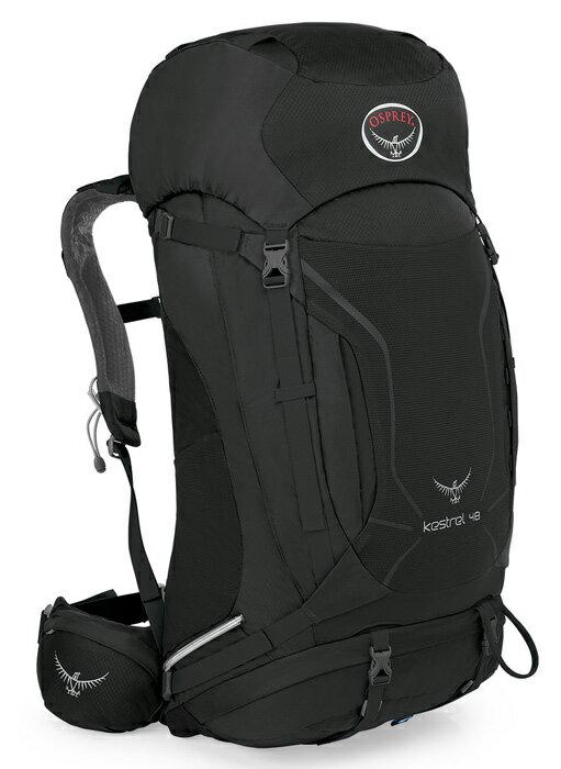 【鄉野情戶外專業】 Osprey |美國| Kestrel 48 登山背包/自助旅行中背包-灰黑M/L/Kestrel48 【容量48L】