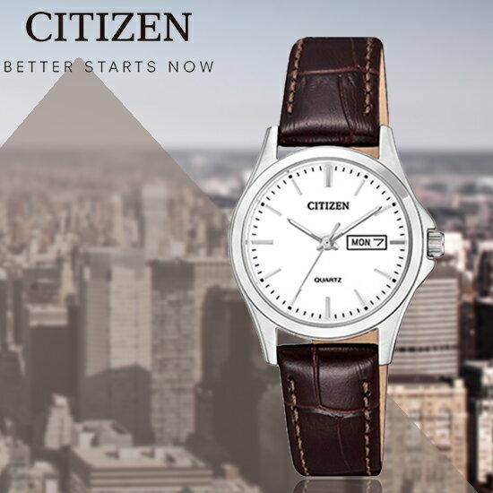 CITIZEN日本星辰簡約淑女石英腕錶EQ0591-21A公司貨