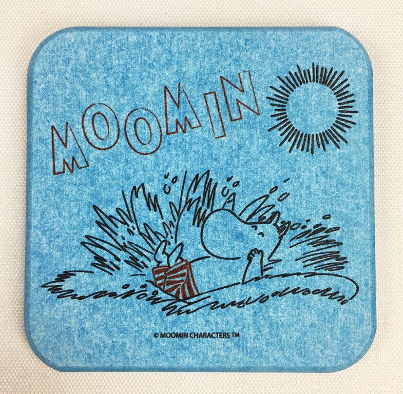 【Moomin】珪藻土吸水杯墊(綠)