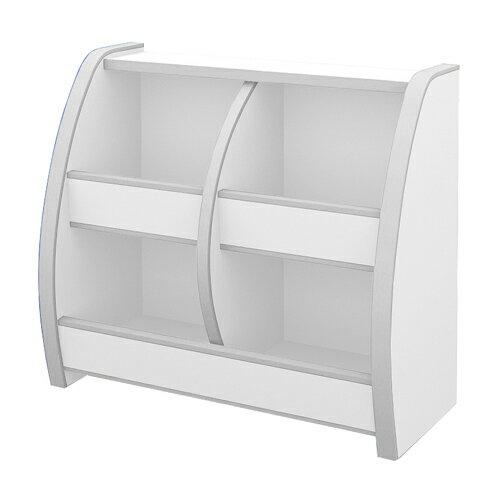 日本直輸/書櫃/收納櫃 TZUMii 小木偶四格收納櫃-白