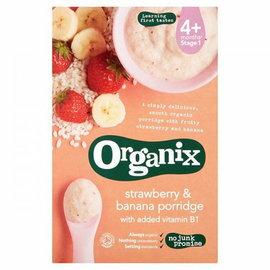 『121婦嬰用品』英國Organix 有機鮮果米糊-香蕉草莓120g(4個月以上) 0