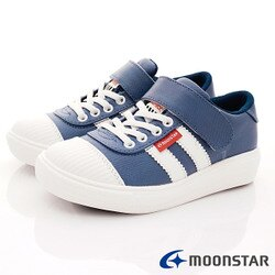 日本月星頂級童鞋 2E靜態防水運動款 SGJ5075藍(中大童段)