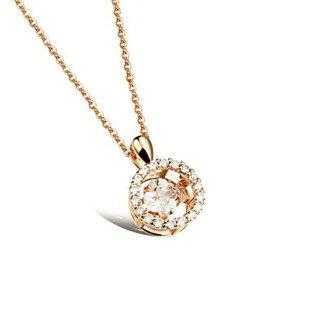 最新款日韓新品精美皓石微鑲立體鍍白金鍍18K金女款項鍊