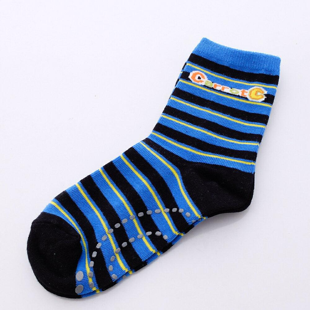 日本月星MoonStar 機能鞋品牌旗艦館 日本月星Moonstar機能襪-Carrot C四大機能健康童襪10010黑(13-15cm)