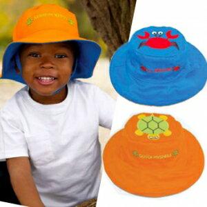 小烏龜精品童裝店:UPF50+高防曬指數‧保護細緻肌膚Flapjackkids雙面遮陽帽-螃蟹烏龜
