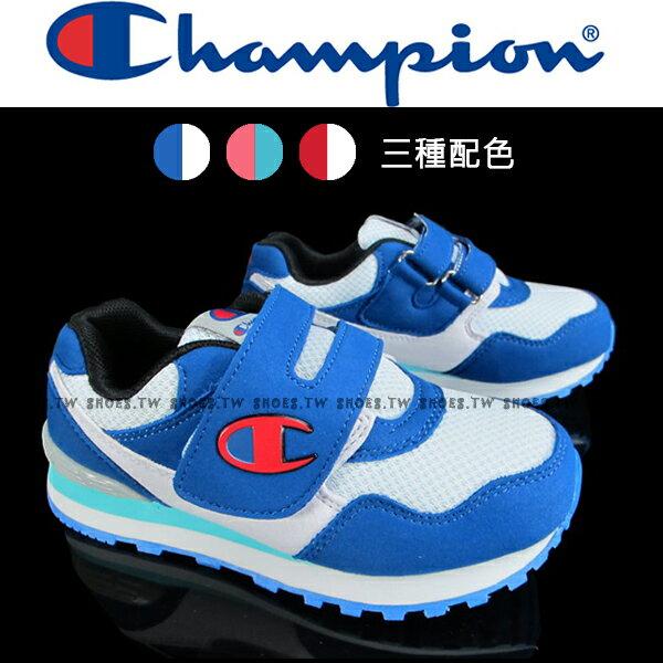 Shoestw Champion 大童鞋 運動鞋 黏帶 大人女生可穿 粉紅【621240163】 紅色【621240145】 藍色【621240134】 0