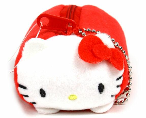 X射線【C196311】Hello Kitty 造型零錢包附鍊,美妝小物包/媽媽包/面紙包/化妝包/零錢包/收納包/皮夾/手機袋/鑰匙包
