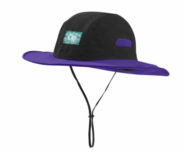 【鄉野情戶外專業】 Outdoor Research  美國  Seattle Retro GTX 防水圓盤帽/Gore-Tex 登山帽 健行帽 防曬帽 遮陽帽-黑/紫/264407