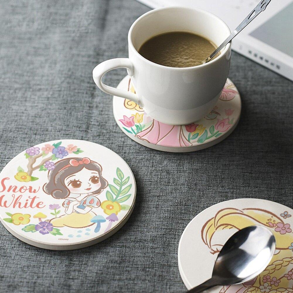 【買1送1 】迪士尼公主童話風珪藻土吸水杯墊 1