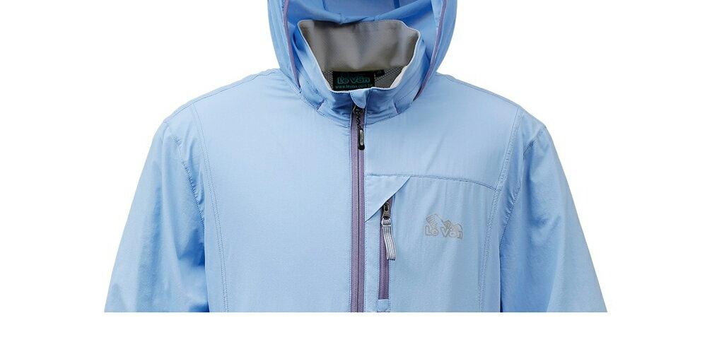 男抗UV單層風衣 - 煙藍 3450 1